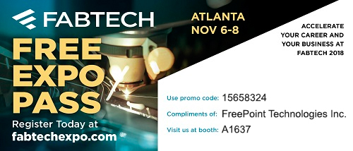 fabtech free expo pass promo code atlanta nov 6-8 accelerate your career and business at fabtech 2018 freepoint technologies