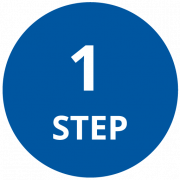 Step 1 Icon that is a circle
