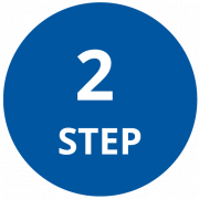 Step 2 Icon that is a circle