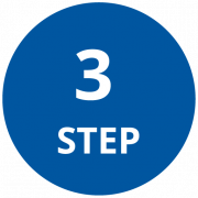Step 3 Icon that is a circle